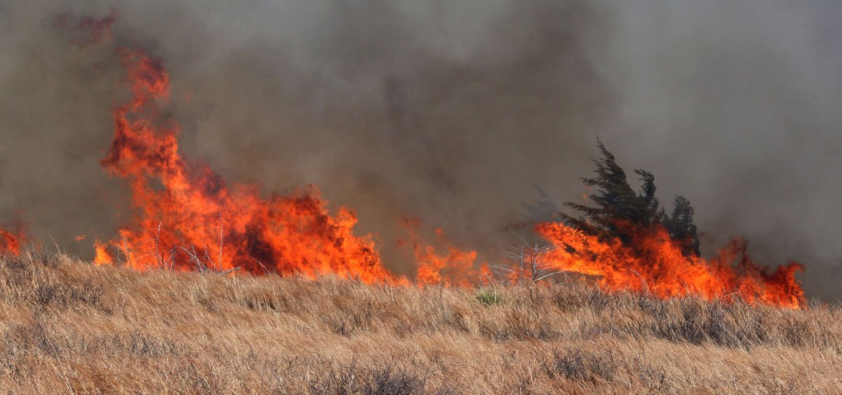 Kansas wildfire (Photo from Kansas Division of Emergency Management)