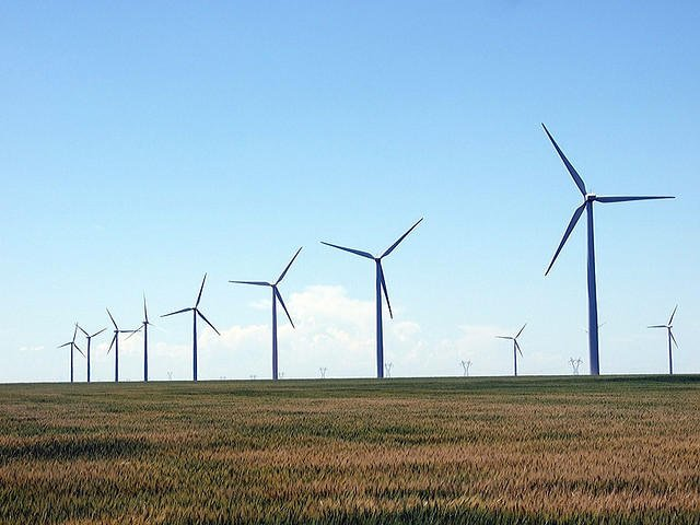 Wind farm photo by Joseph Novak, Flickr, Creative Commons