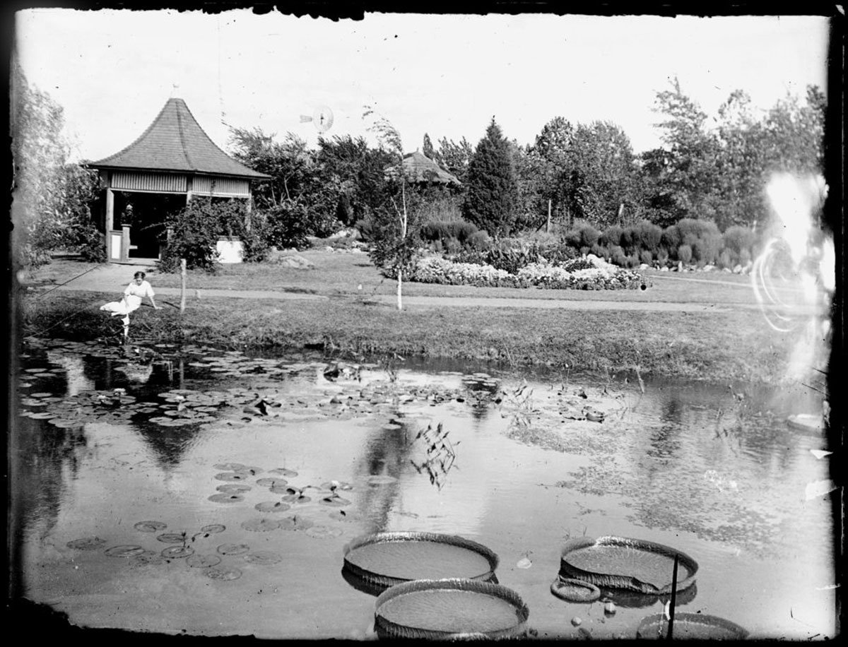 This is a photograph made from a dry plate glass negative of Gage Park in Topeka, Kansas (1904). (Photo Courtesy Kansas Historical Society / kansasmemory.org)