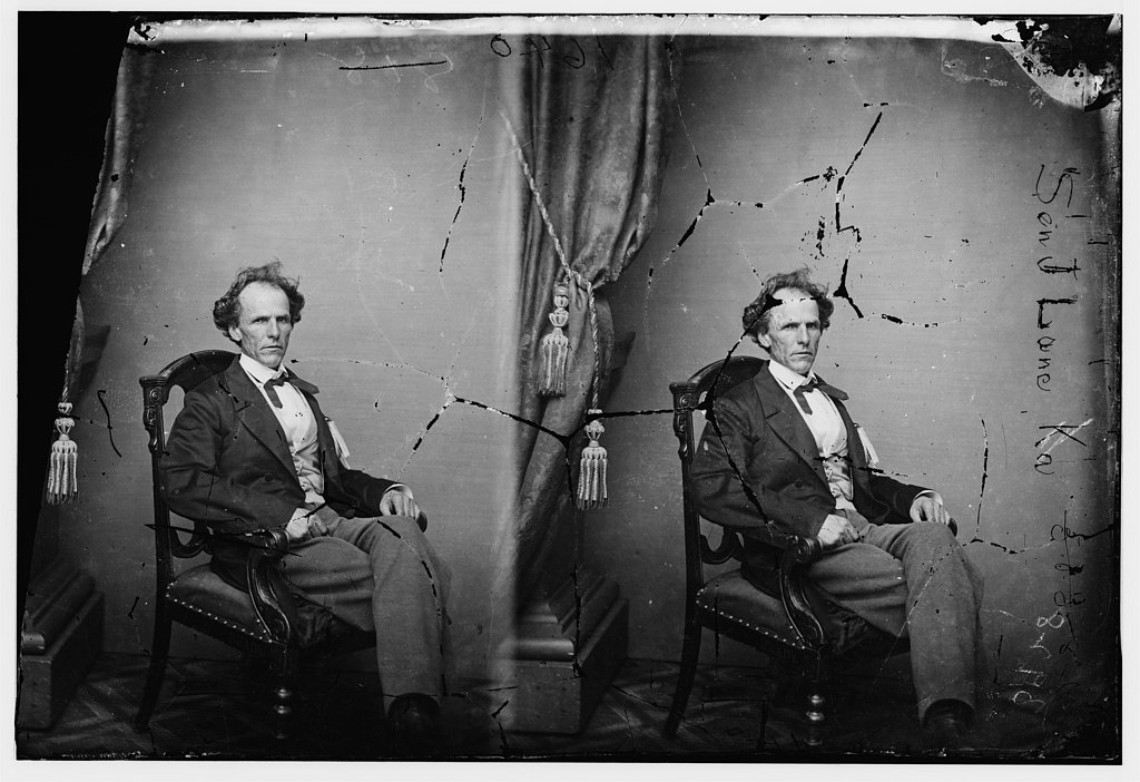Senator James Lane of Kansas, ca. 1860-1870. (Photo Courtesy of Library of Congress)