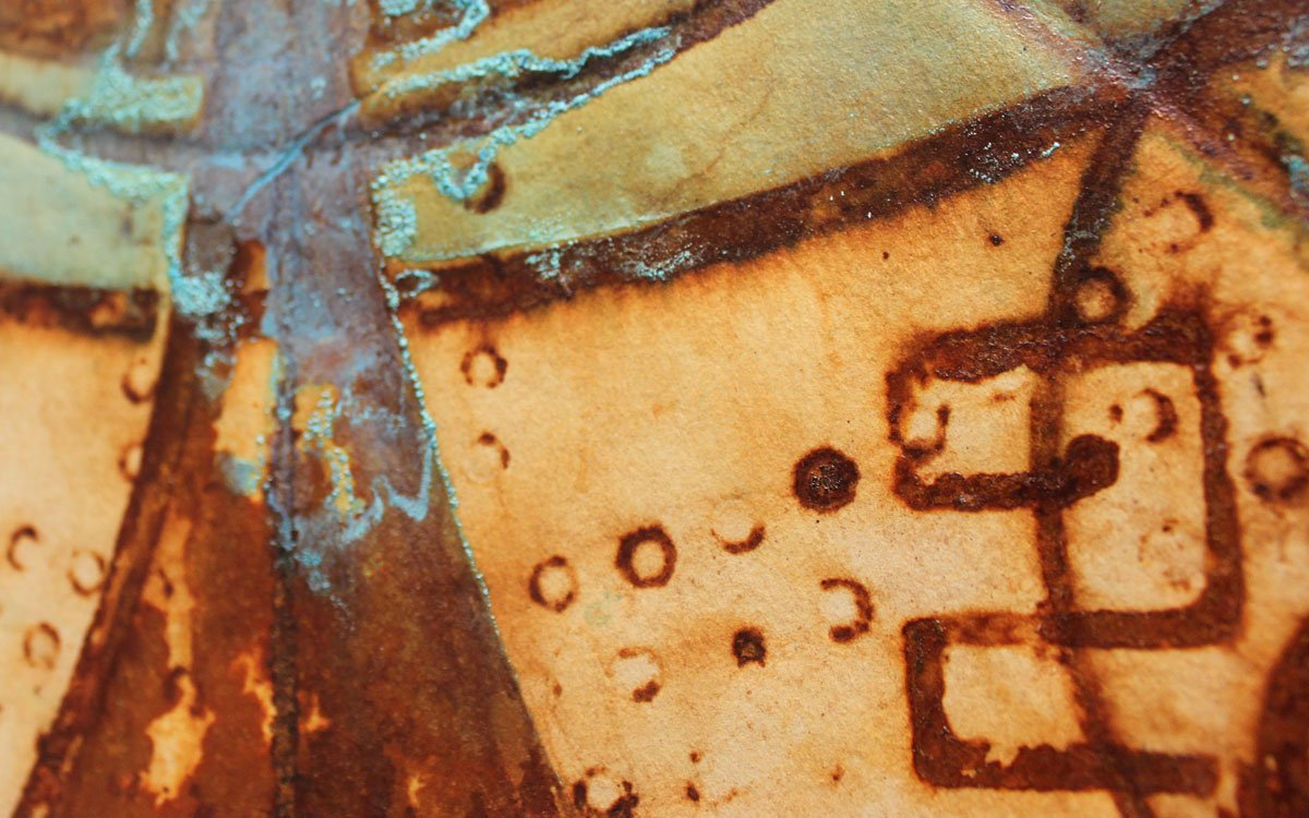 Artist Charles Ray uses different types of oxidation on two-dimensional surfaces to create his artwork.
