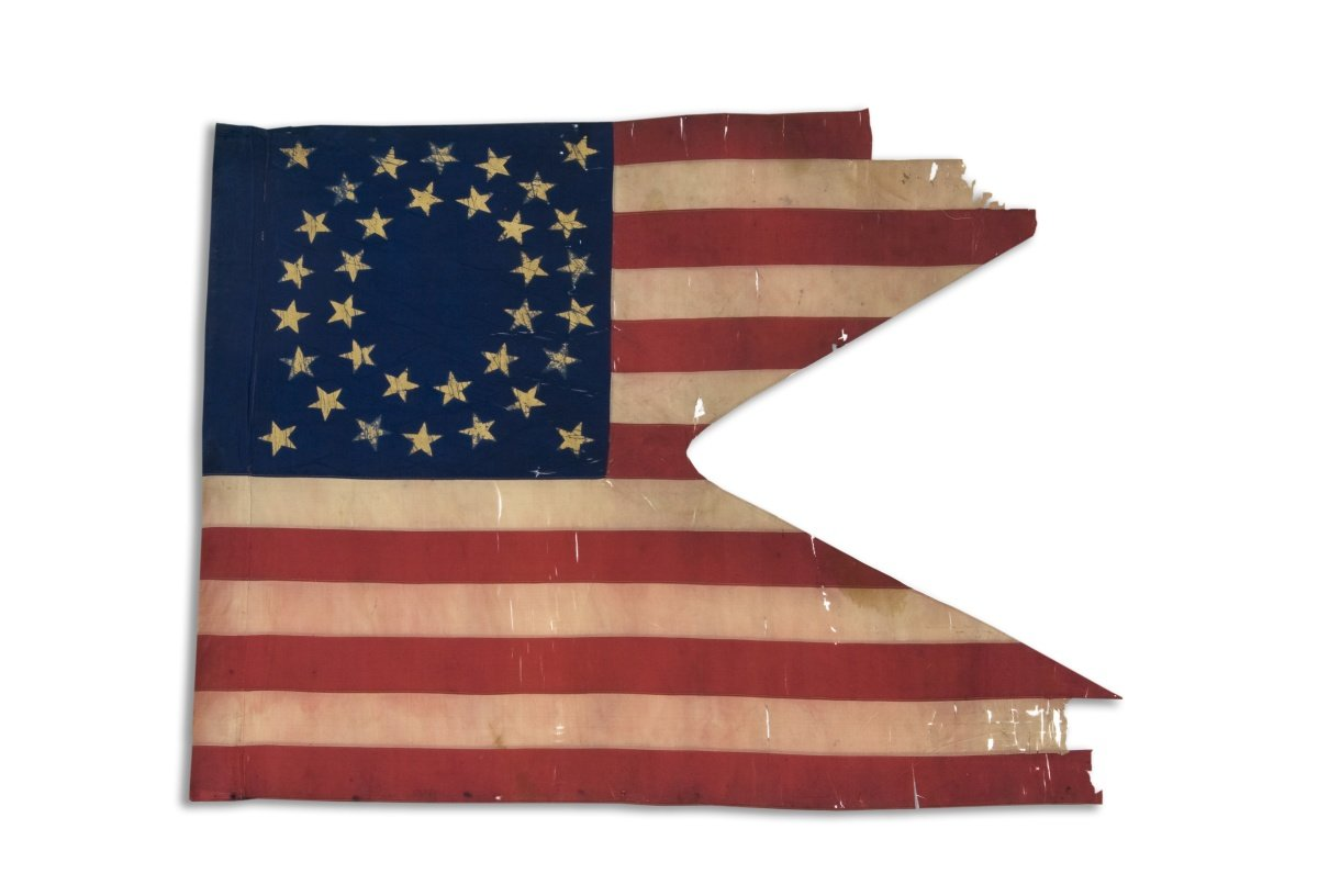 11th Kansas Cavalry guidon, used during the American Civil War (Image from the Kansas Historical Society)