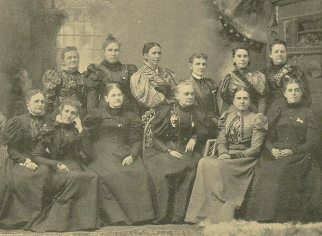 A formal portrait of the members of the 1897 Executive Committee of the Kansas chapter of the Woman's Christian Temperance Union. (Photo Courtesy of Kansas Historical Society / kansasmemory.org)