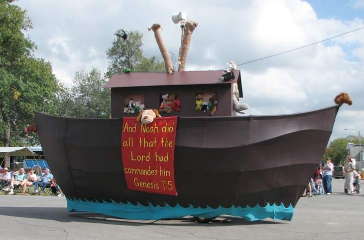 """Noah's Ark, just one of many floats seen at Biblesta, billed as the nation's """"only Biblical parade."""""""
