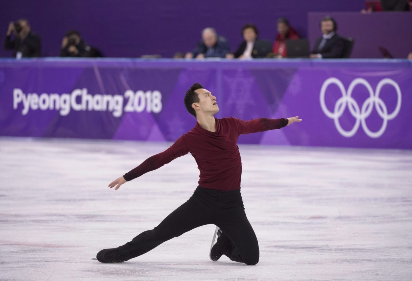 Canadian Patrick Chan, skating at the 2018 Winter Olympics in South Korea