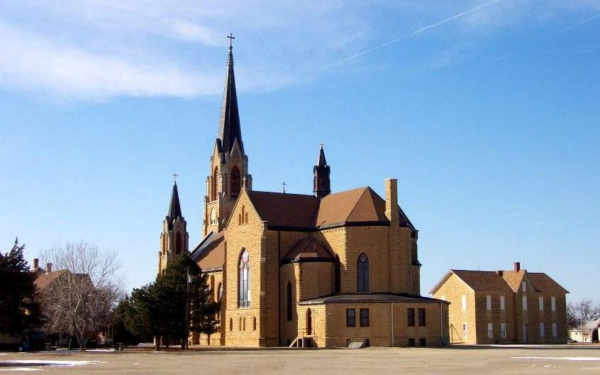 Holy Cross Church in the Ellis County town of Pfeifer. (Photo Courtesy of Carol Billinger, www.germancapitalofkansas.com)
