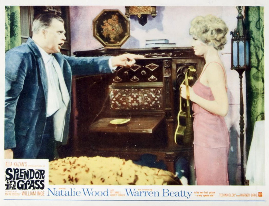 "This polychrome-lithographed lobby card advertises the film ""Splendor in the Grass."" The screenplay for the 1961 film was written by William Inge and based on his personal experience growing up in Independence, Kan. Inge won an Academy Award for this film. (Image Courtesy of Kansas Historical Society / kansasmemory.org)"