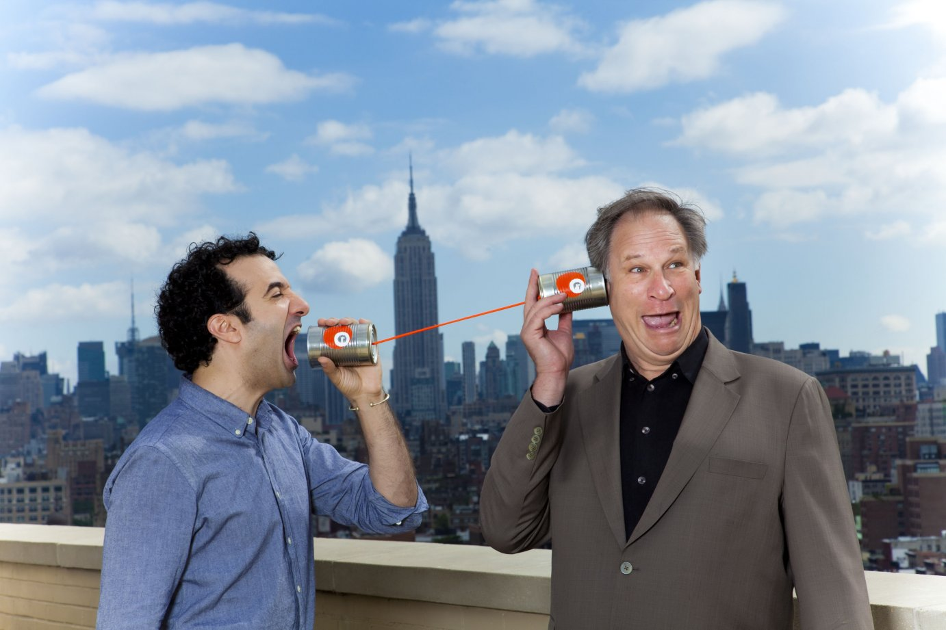 Radiolab, which airs on KPR2 at Noon on Saturdays, features hosts Jad Abumrad (left) and Robert Krulwich. (Photo Credit: MarcoAntonio.com)