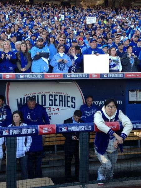 Sung-Woo Lee in the Royals dugout (Image credit: ESPN Films)