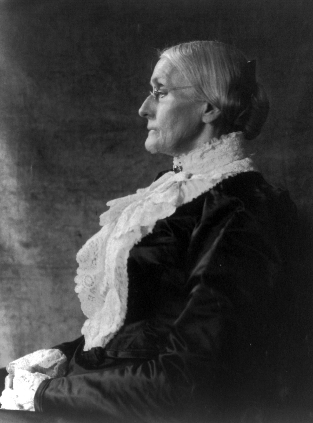 Suffragist Susan B. Anthony, between ca. 1890 and ca. 1910 (Photo Courtesy of Library of Congress)