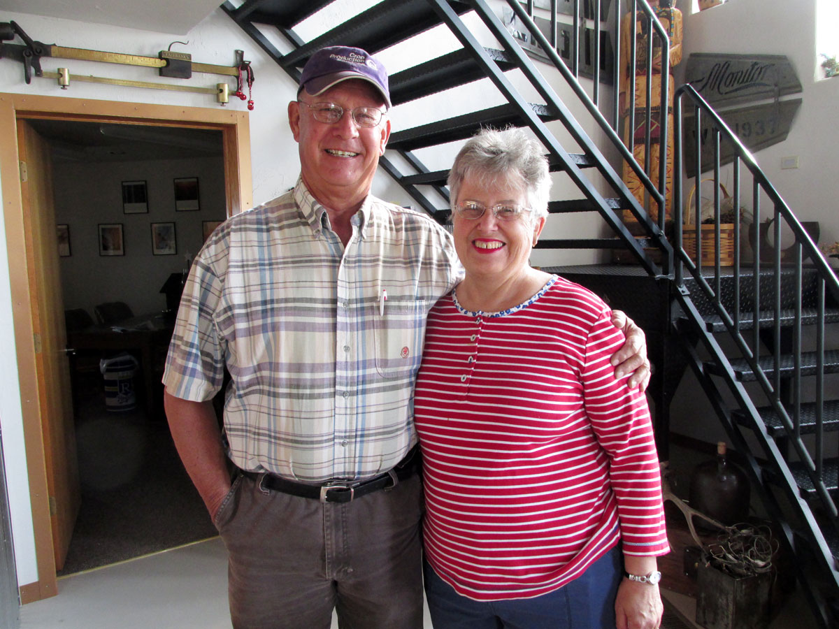 Vance and Louise Ehmke, owners of a 10,000-acre seed farm in Lane County, Kan. (Photo by David Guth)