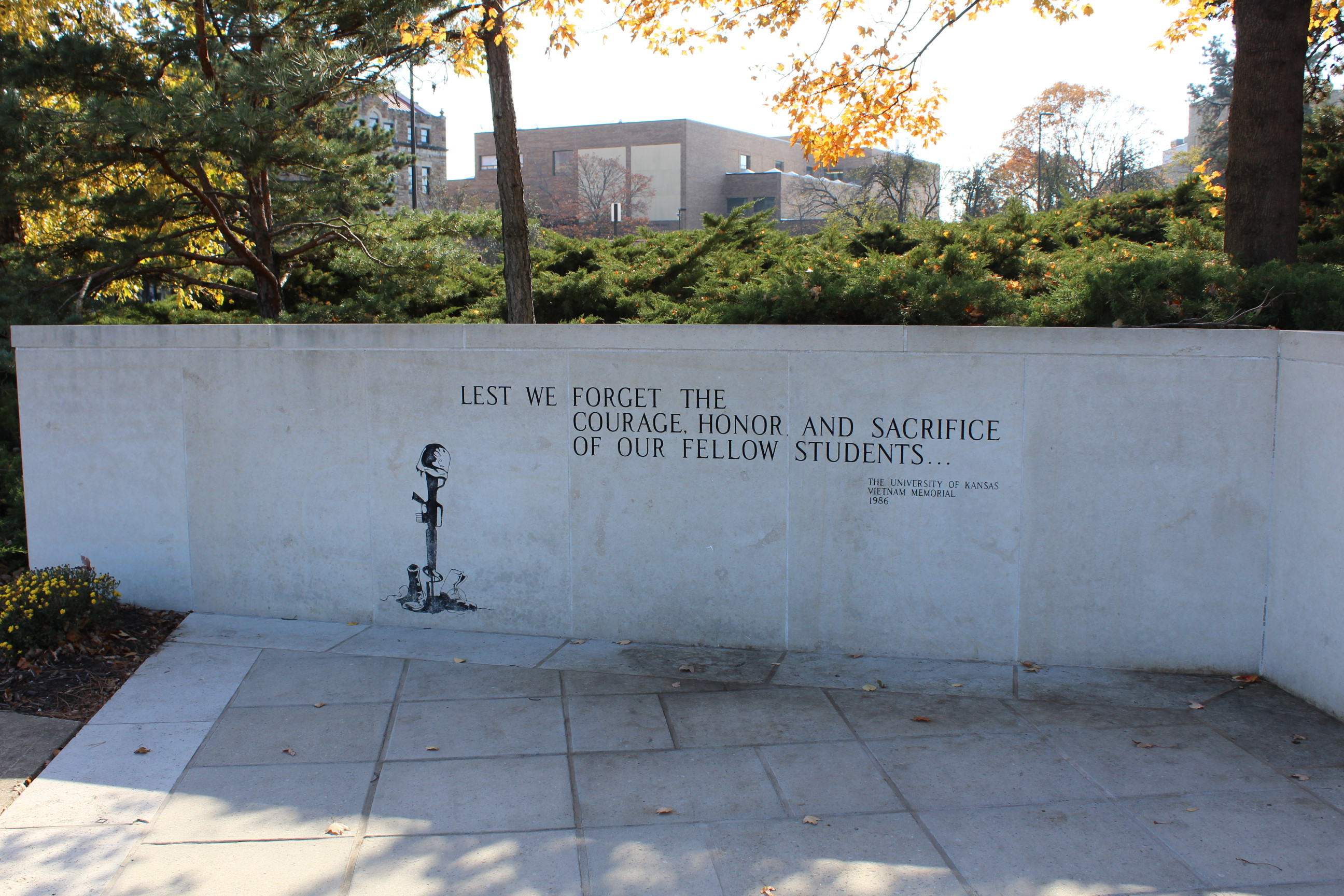 Vietnam War memorial at KU (Photo by J. Schafer)