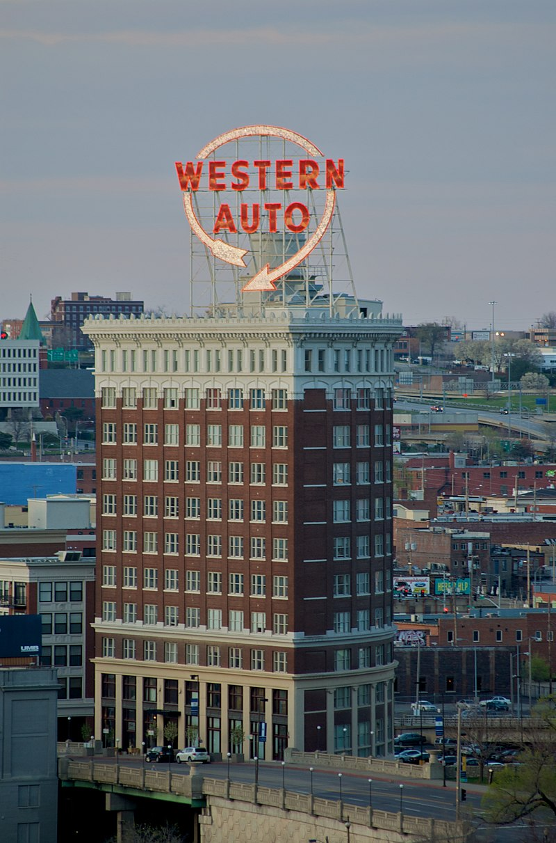 Western Auto sign in downtown Kansas City
