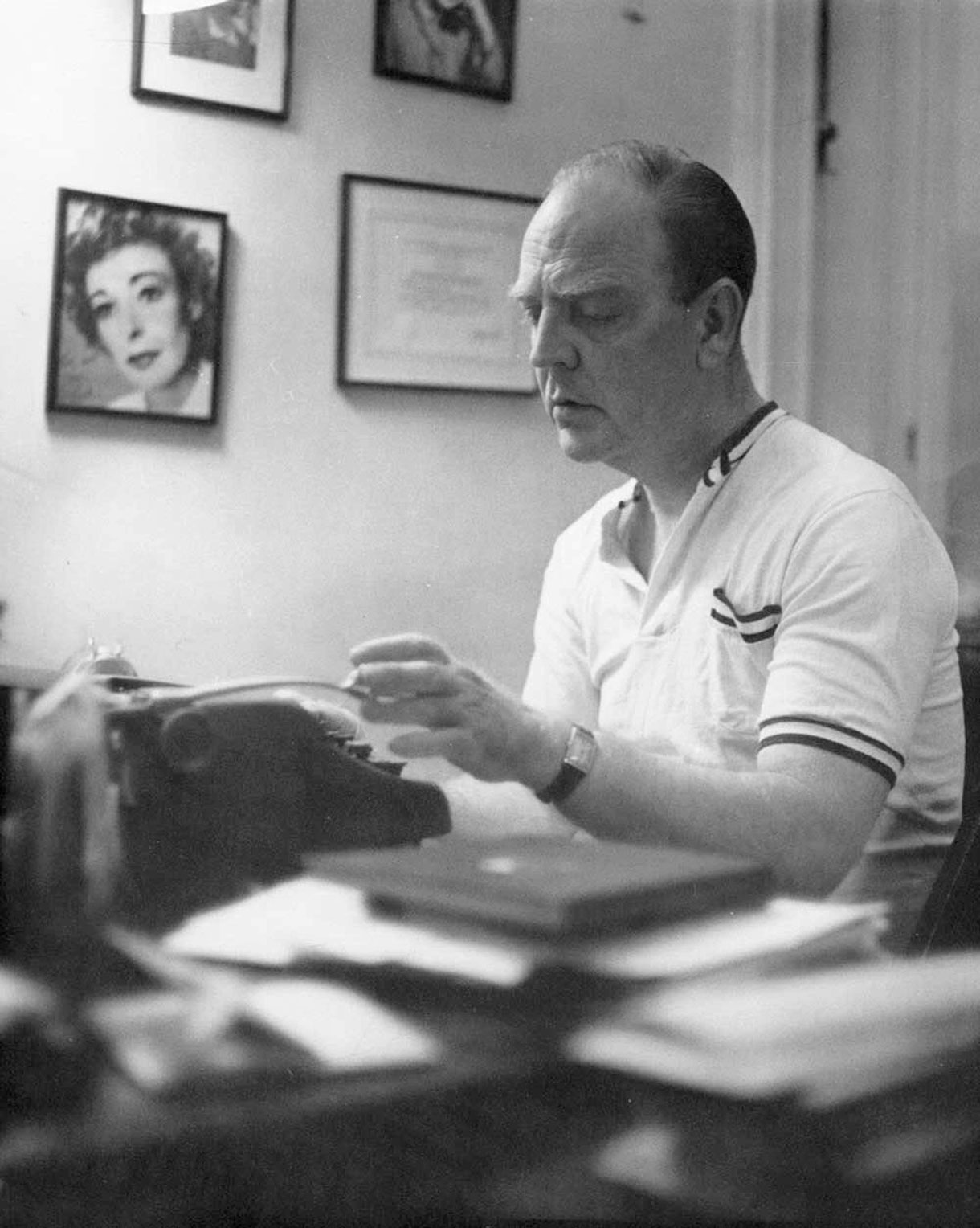 "Portrait of William Inge from the 1950s. He was born in Independence, Kan., graduated from the University of Kansas, worked for a Wichita radio station, and taught in both high school and college before his play ""Come Back, Little Sheba"" brought him fame in 1949. (Image Courtesy of Kansas Historical Society / kansasmemory.org)"