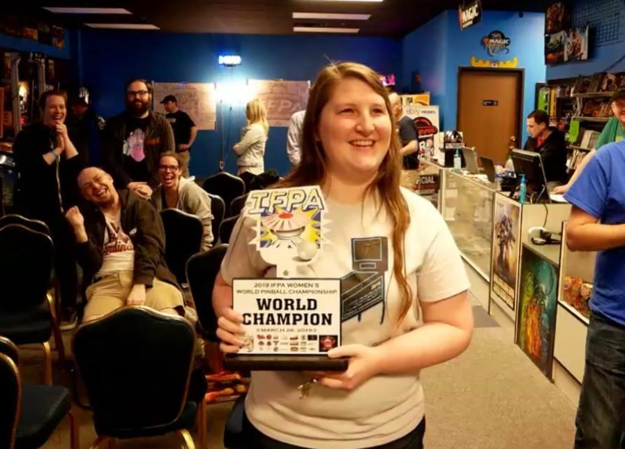 In March, Keri Wing won the IFPA Women's World Pinball Championship in Las Vegas. (Image credit: The 403 Club/PublicInsta)