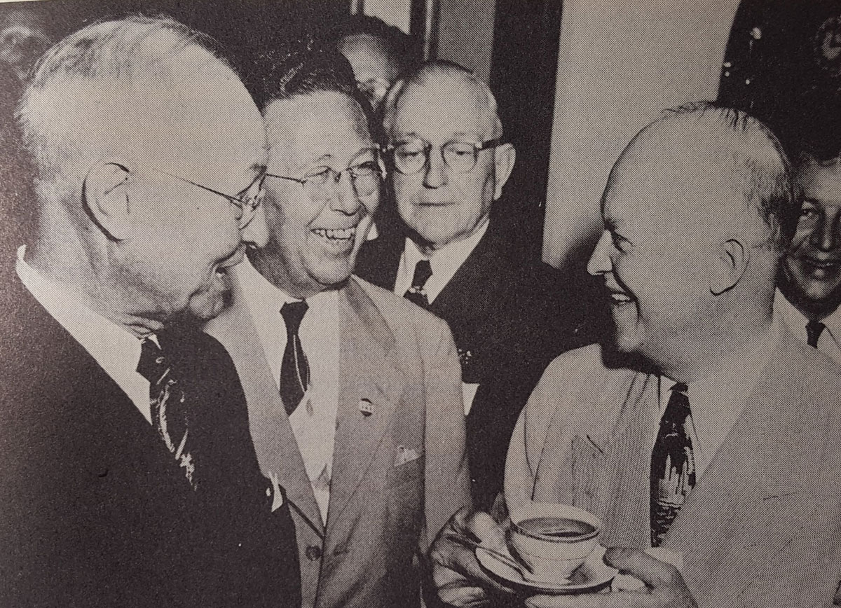 Dane G. Hansen with then General Dwight D. Eisenhower in 1952. (Photo Courtesy of Dane G. Hansen Foundation)